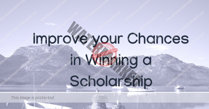 Improve your Chances in Winning a Scholarship
