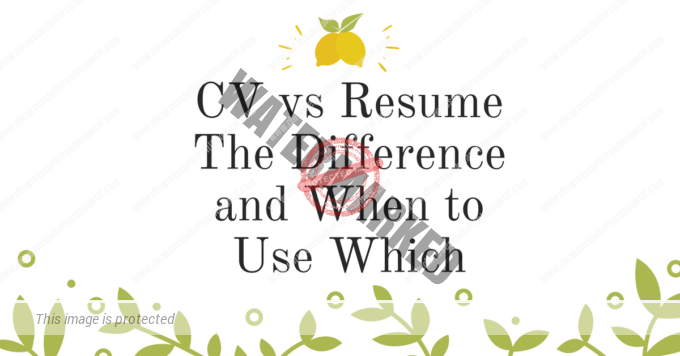 CV vs Resume The Difference and When to Use Which