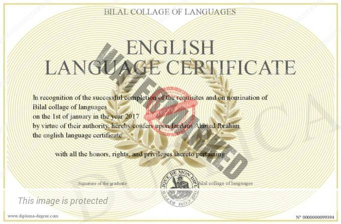 english proficiency certificate with sample  download