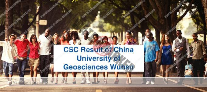 CSC Result of China University of Geosciences Wuhan