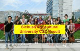 Sichuan Agricultural University CSC Result