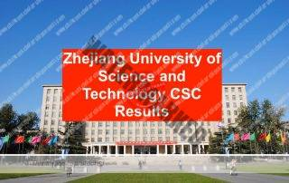 Zhejiang University of Science and Technology CSC Results 2019